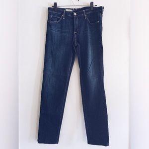 AG Adriano Goldschmied long dark cigarette jeans